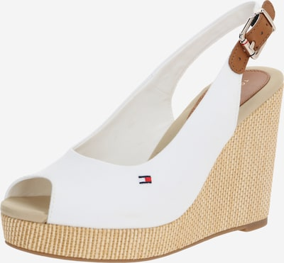 TOMMY HILFIGER Sandal 'ELENA' i beige / vit, Produktvy