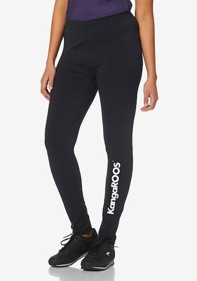 KangaROOS Leggings in schwarz / weiß, Modelansicht