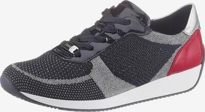 ARA Sneaker 'Lissabon' in navy / grau / rot / silber, Produktansicht