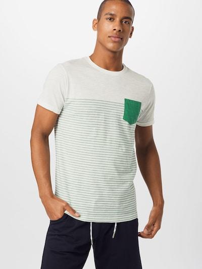 !Solid Shirt in grün / weiß: Frontalansicht