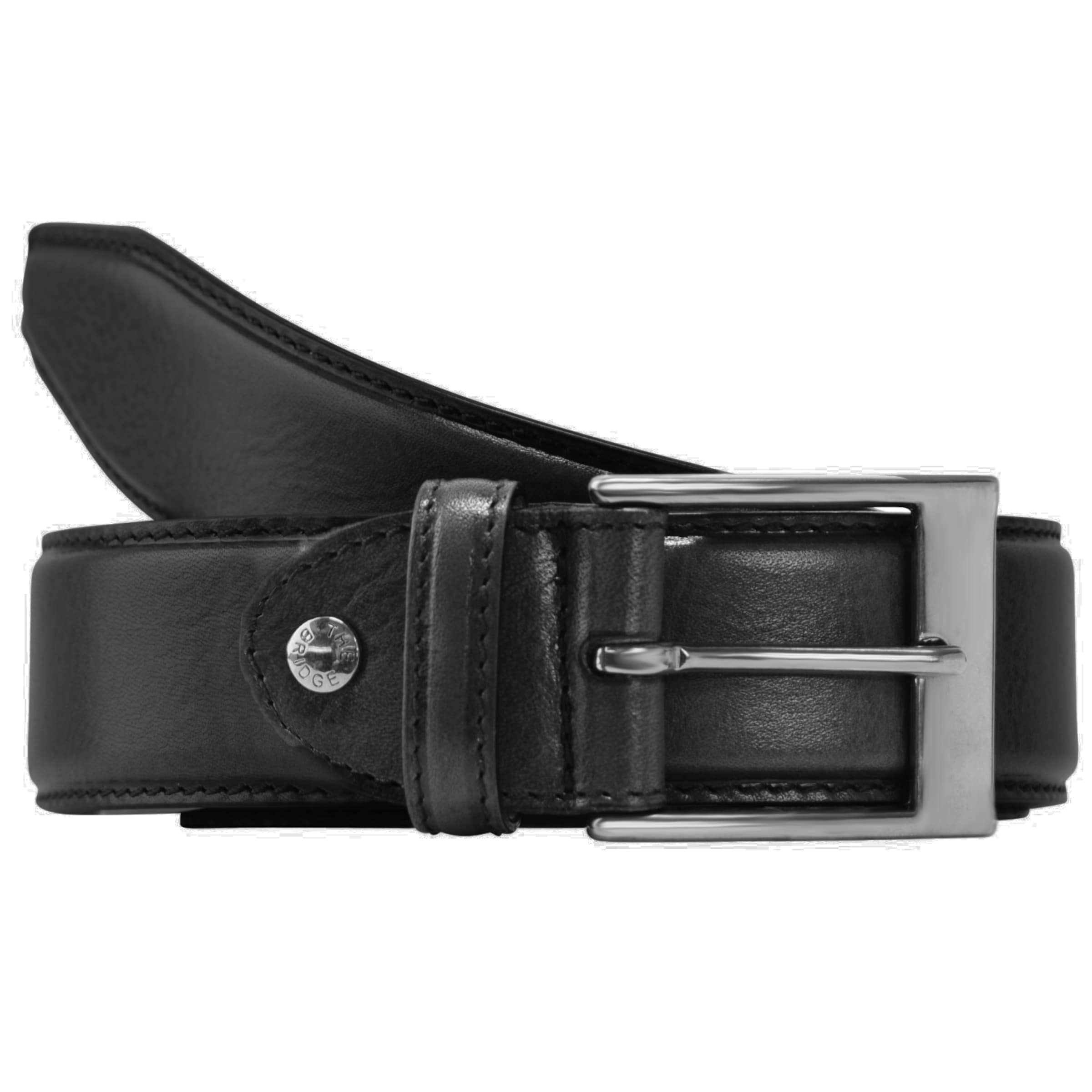 Schwarz Leder In Uomo Story Gürtel 135 The Bridge Cm 54AR3jL