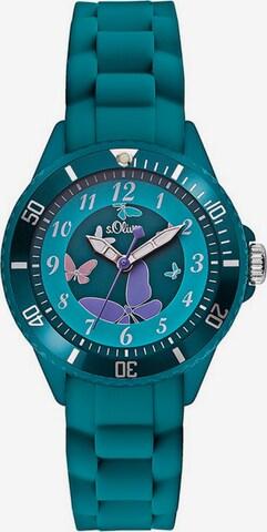 s.Oliver s.Oliver Quarzuhr »SO-2597-PQ« in Blau