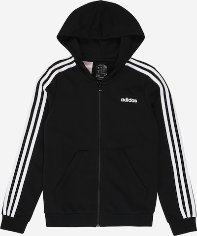 ADIDAS PERFORMANCE Sports sweat jacket 'YG E 3S FZ HD' in black / white, Item view