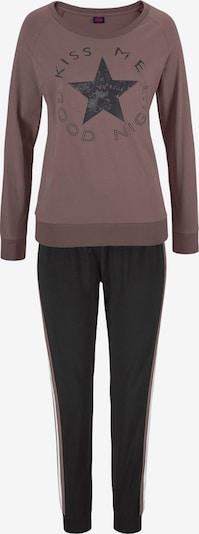 BUFFALO Pyjama in braun / schwarz / weiß, Produktansicht
