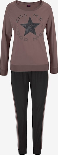 BUFFALO Pyjama in de kleur Bruin / Zwart / Wit, Productweergave