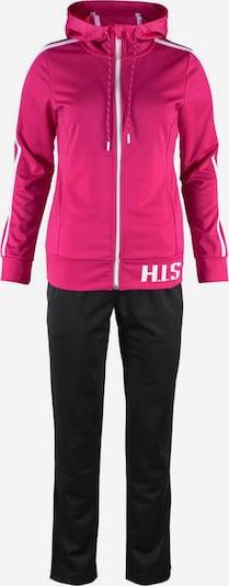 H.I.S Trainingsanzug in pink / schwarz / weiß, Produktansicht