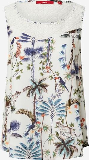 Bluză s.Oliver pe crem / culori mixte, Vizualizare produs