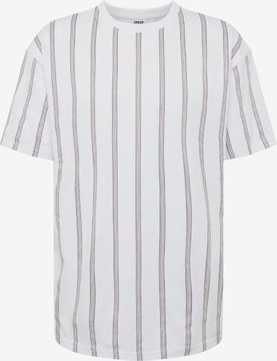 Urban Classics Shirt 'Heavy Oversized AOP Stripe' in de kleur Zwart / Wit, Productweergave