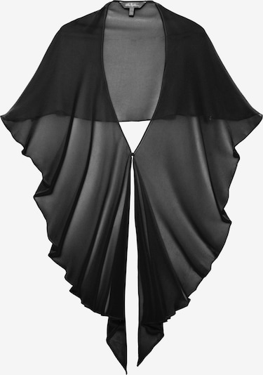 Ulla Popken Cape en noir, Vue avec produit
