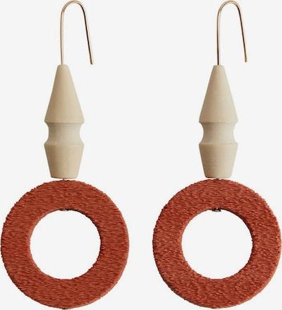 MANGO Ohrringe 'Teracota' in beige / bronze / gold, Produktansicht