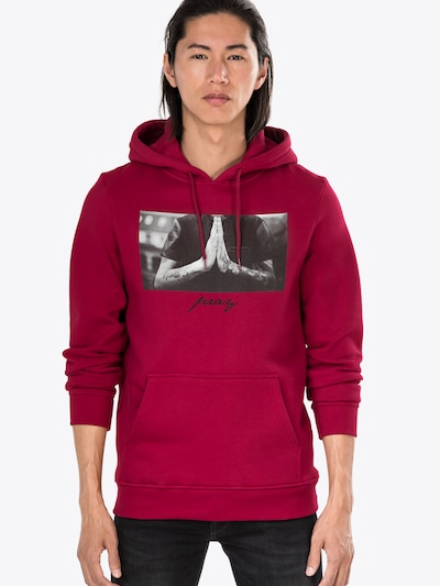 Mister Tee Sweatshirt 'Pray Hoody' in grau weiß | ABOUT YOU