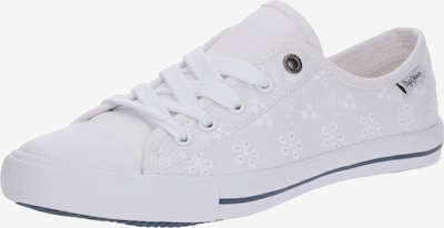 Pepe Jeans Sneaker 'GERY ANGY' in weiß: Frontalansicht