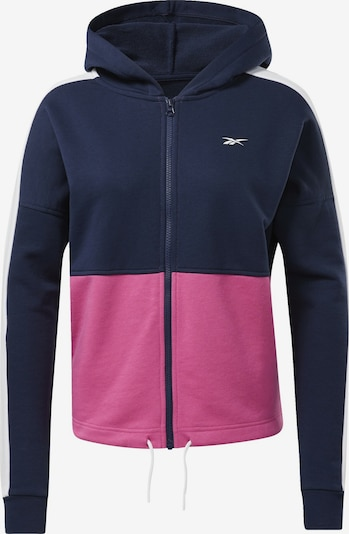 REEBOK Sportief sweatvest in de kleur Blauw / Rosa / Wit, Productweergave