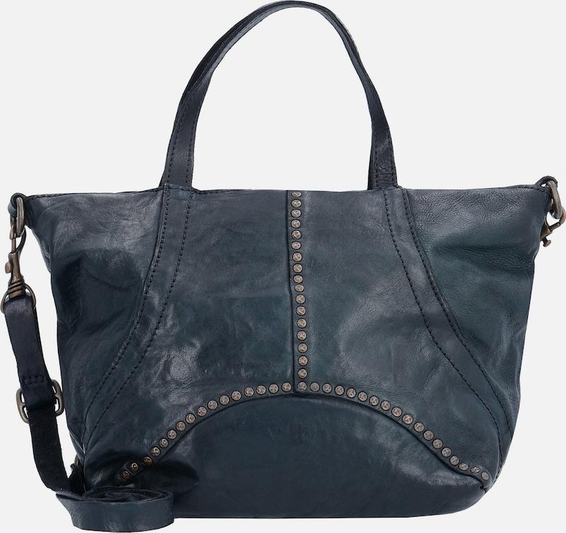 campomaggi traditional handtasche leder 24 cm in blau. Black Bedroom Furniture Sets. Home Design Ideas