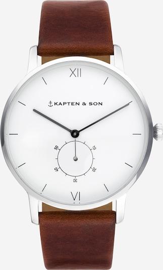 Ceas analogic 'Heritage' Kapten & Son pe maro / argintiu, Vizualizare produs