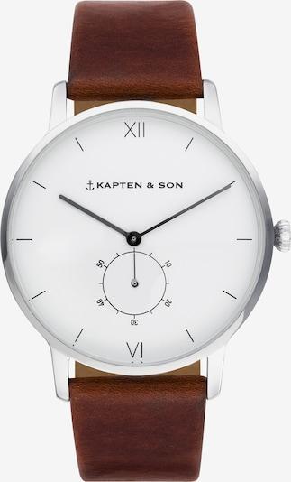 Kapten & Son Montre à affichage analogique 'Heritage Silver' en marron / argent, Vue avec produit