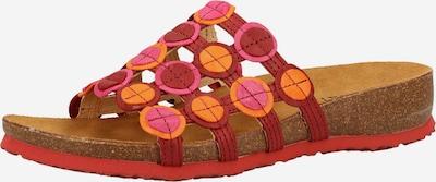 THINK! Pantolette in orange / pink / karminrot, Produktansicht
