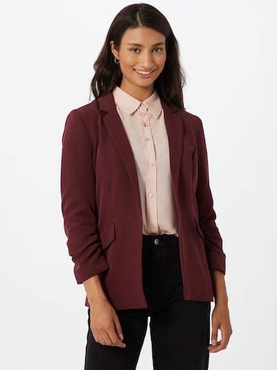 ONLY Blazer 'DIANA-MAIA' in bordeaux, Modelansicht