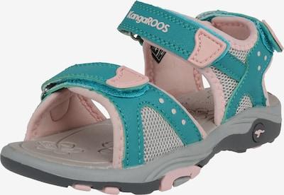 KangaROOS Sandale 'Belle' in türkis / grau / rosa, Produktansicht