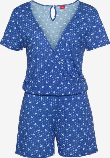 s.Oliver Pyjama en bleu roi / blanc, Vue avec produit