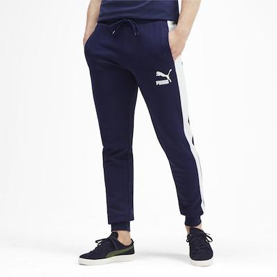 PUMA Hose in dunkelblau / weiß, Modelansicht