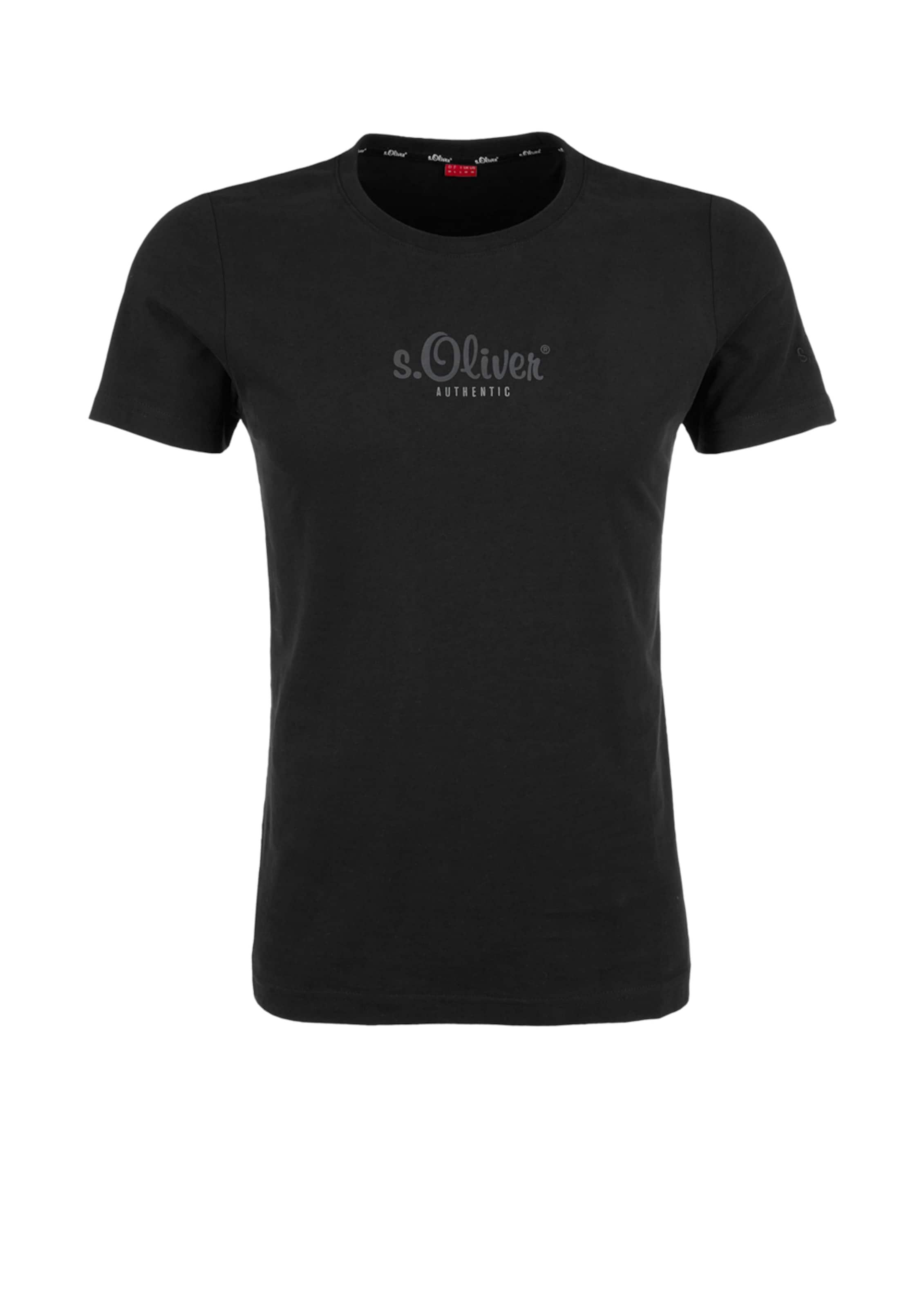 shirt T In oliver 'authentic' Schwarz S stQrdh