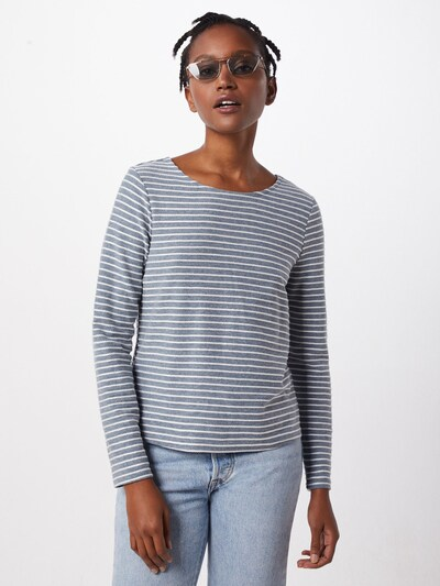 ONLY Pullover 'ONLELLY STRIPE TOP' in blau / weiß: Rückansicht
