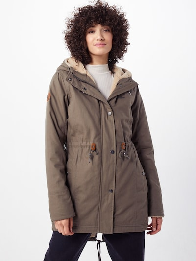 mazine Parka 'Outlane' in taupe: Frontalansicht