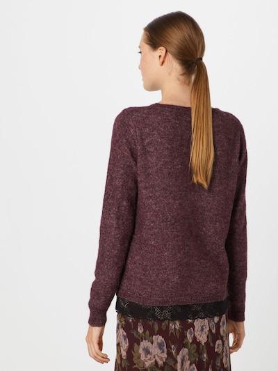 VILA Pullover in bordeaux / schwarz: Rückansicht