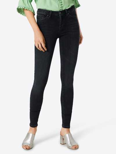 SELECTED FEMME Jeans in black denim, Modelansicht