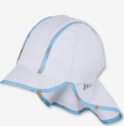 STERNTALER Hut in hellblau / dunkelblau / dunkelorange / weiß, Produktansicht