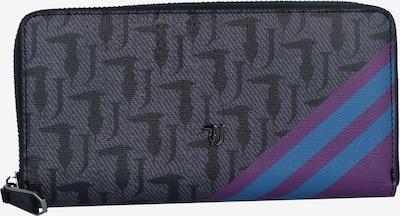 Trussardi Jeans Geldbörse 'Vaniglia' in himmelblau / grau / rotviolett / schwarz, Produktansicht