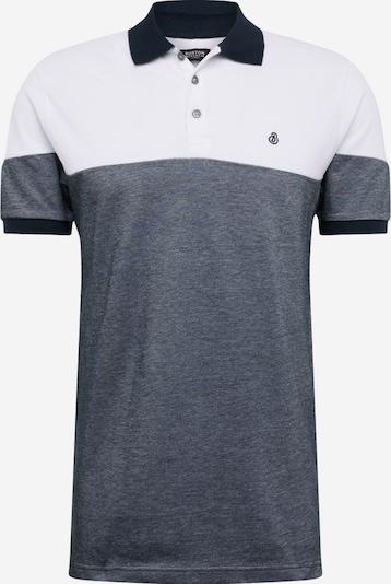 BURTON MENSWEAR LONDON Poloshirt 'White and Navy Two Tone Cut' in navy / weiß, Produktansicht