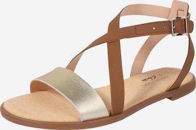 CLARKS Sandale 'Bay Rosie' in braun / gold, Produktansicht