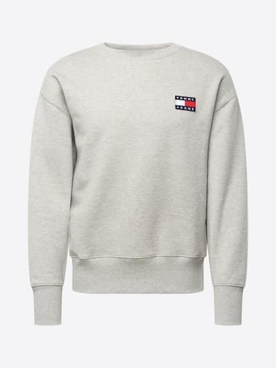 Tommy Jeans Sweatshirt in de kleur Lichtgrijs: Vooraanzicht