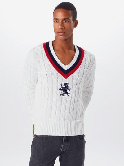 POLO RALPH LAUREN Sweter w kolorze ciemny niebieski / czerwony / białym: Widok z przodu