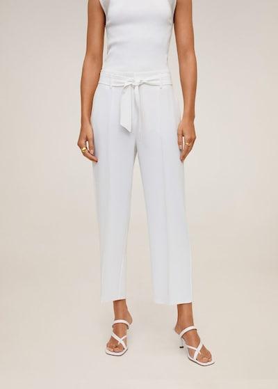 MANGO Kalhoty s puky 'clara' - přírodní bílá, Model/ka