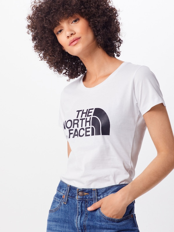 THE NORTH FACE Shirt 'S/S Easy Tee' in weiß: Frontalansicht