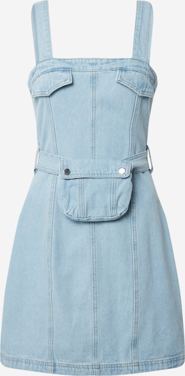 Missguided Robe 'ZIP UP DENIM DRESS WITH BELT BAG' en bleu, Vue avec produit