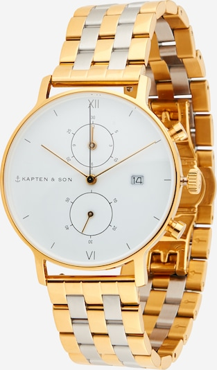 Kapten & Son Analog watch in gold / silver / white, Item view