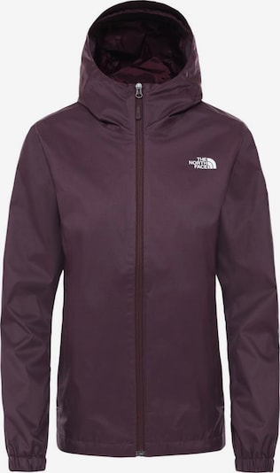 THE NORTH FACE Regenjacke 'Quest' in aubergine / weiß, Produktansicht