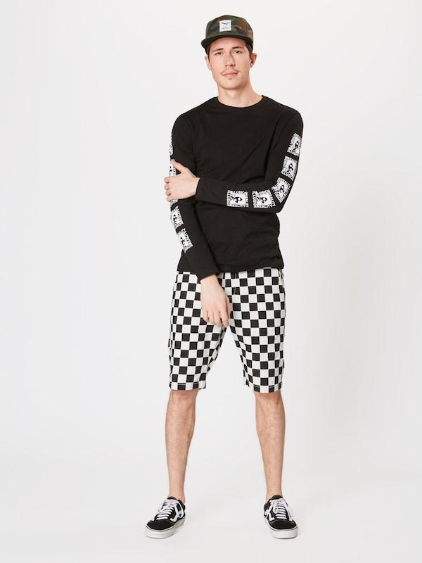 'check Pantalon En NoirBlanc Classics Urban Twill Shorts' WDH29IYE