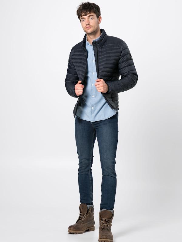Bleu 'beret Jacket Man' Ecoalf Mi Veste En Foncé Down saison SzUVpM