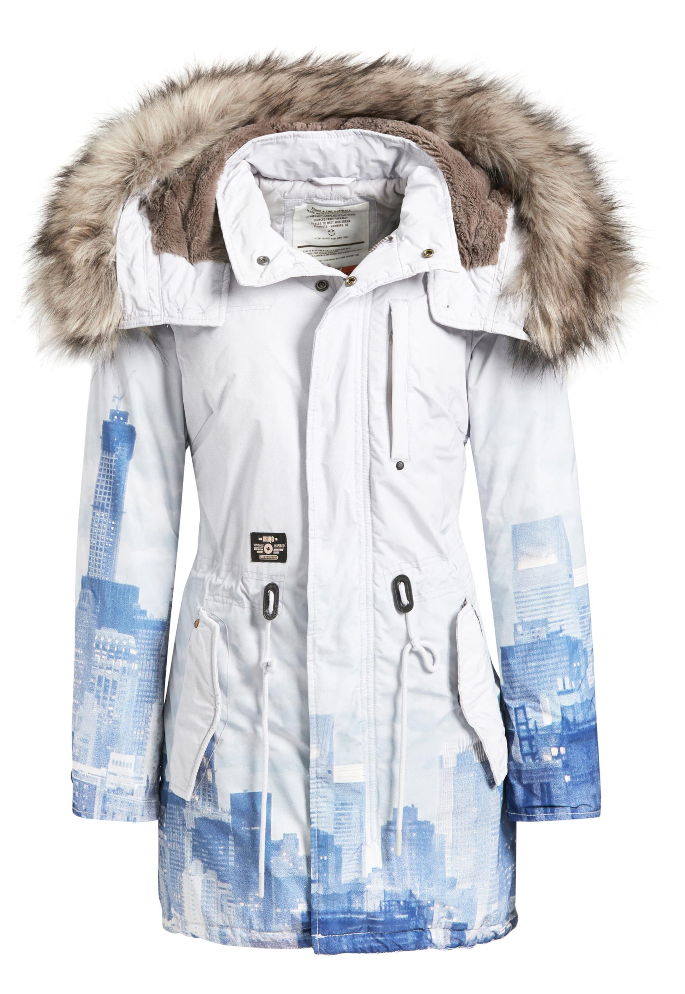 Khujo 'timea2' En D'hiver BleuBlanc Parka XTPOkwZiu