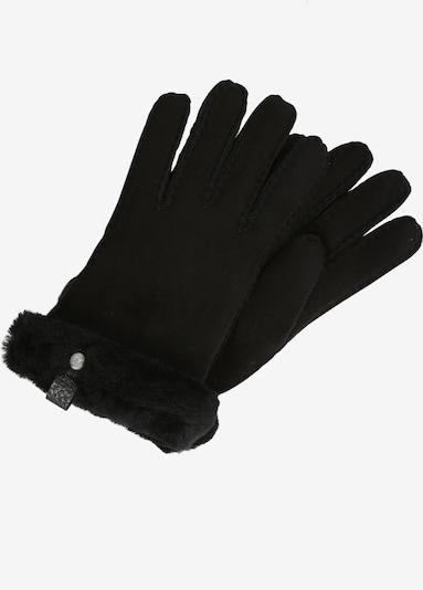 UGG Handschuhe 'Shorty Glove with leather trim' in schwarz, Produktansicht