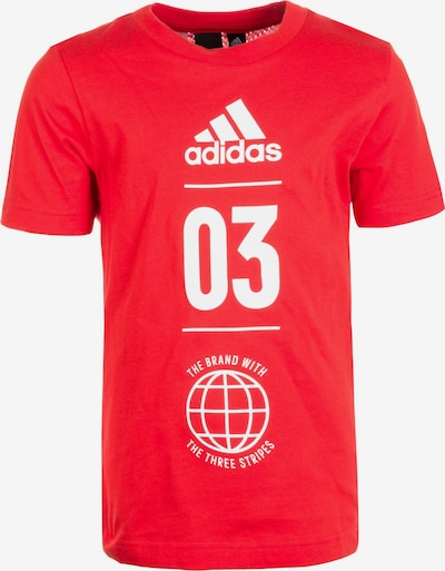 ADIDAS PERFORMANCE Trainingsshirt 'Sport ID' in cranberry / weiß, Produktansicht