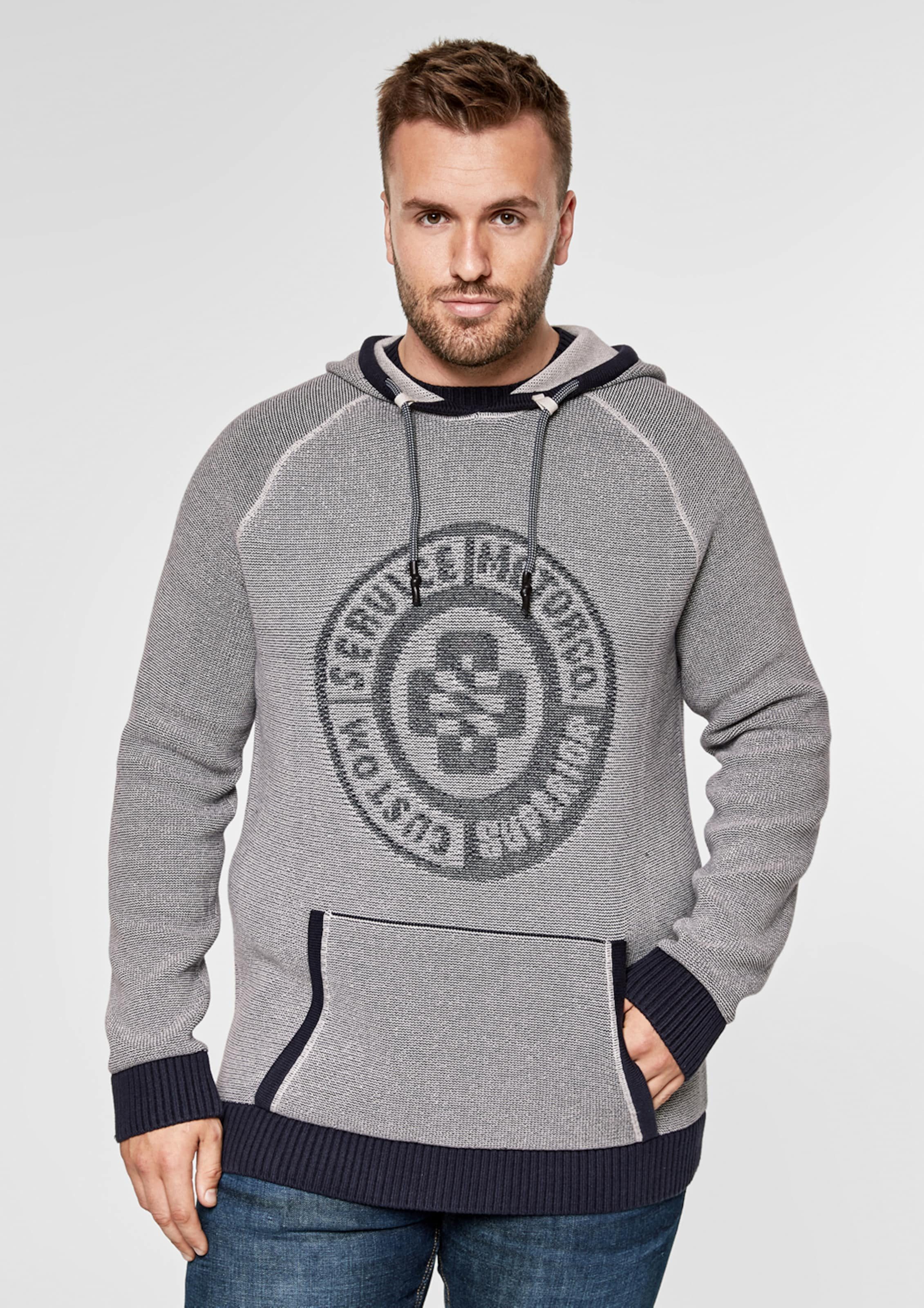 S oliver In GrauDunkelgrau Label Hoodie Red 5AS4RLcjq3