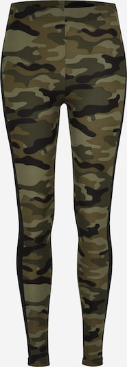 Urban Classics Curvy Leggings 'Camo Stripe' en vert / noir, Vue avec produit