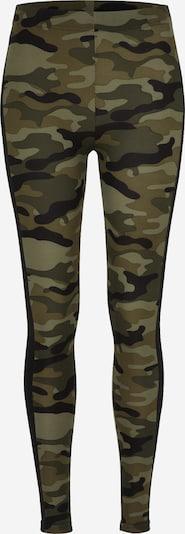 Urban Classics Curvy Leggings in grün / schwarz, Produktansicht