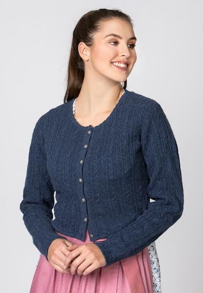 STOCKERPOINT Strickjacke 'Liz' in violettblau, Modelansicht